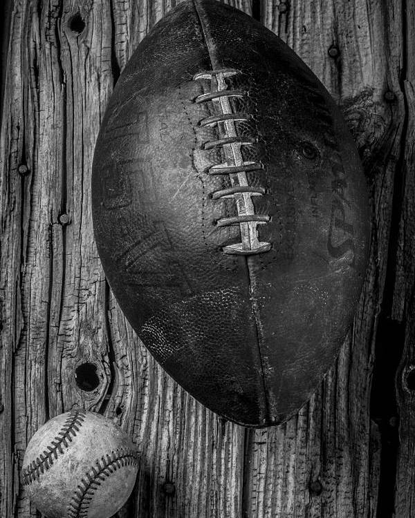 Old Poster featuring the photograph Football And Baseball by Garry Gay