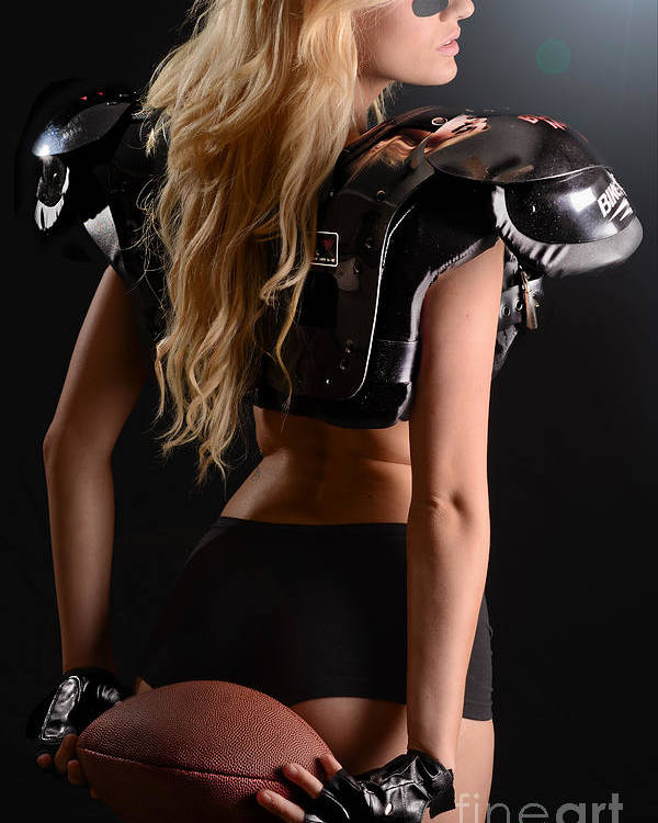 Fit Poster featuring the photograph Football Girl by Jt PhotoDesign