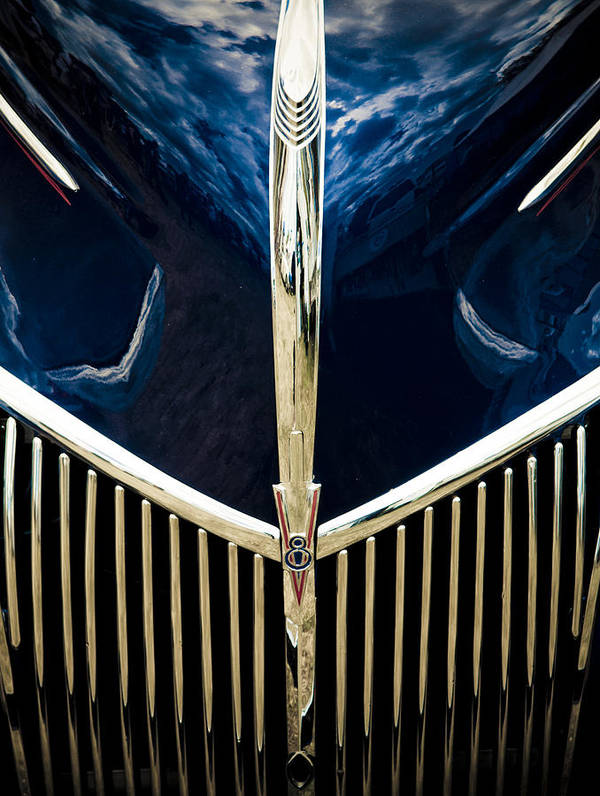 Ford Hood Poster featuring the photograph Ford V8 Grill by Phil 'motography' Clark