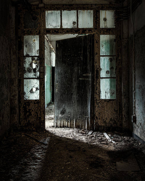 Doors Poster featuring the photograph Foreboding Doorway by Gary Heller