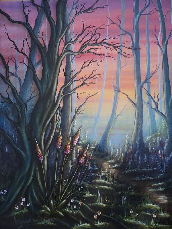 Forest Poster featuring the painting Forest Dreams by Krystyna Spink