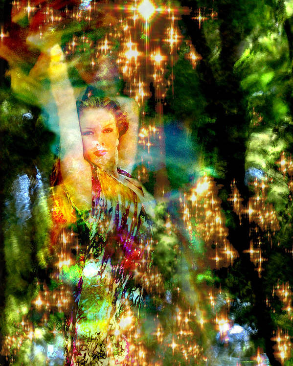 Forest Poster featuring the digital art Forest Goddess 4 by Lisa Yount