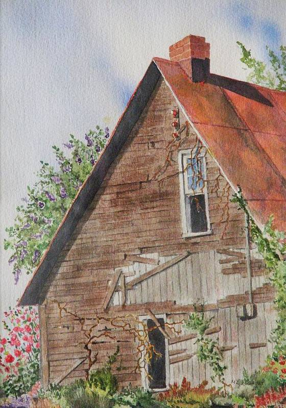 Farm Poster featuring the painting Forgotten Dreams Of Old by Mary Ellen Mueller Legault