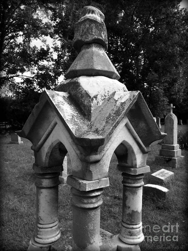 Cross Photographs Poster featuring the photograph Forgotten Grave by Deborah Fay