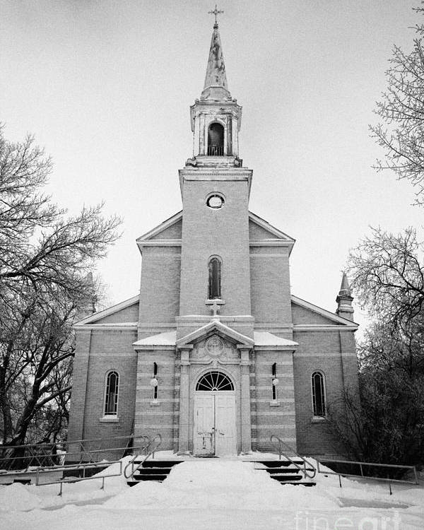 Former Poster featuring the photograph former st josephs catholic church in Forget Saskatchewan Canada by Joe Fox