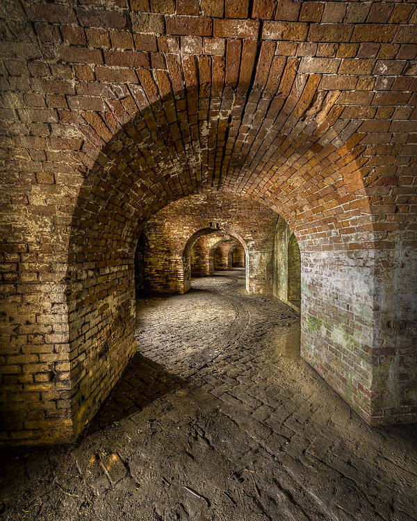 Fort Macomb Poster featuring the photograph Fort Macomb Arches Vertical by David Morefield