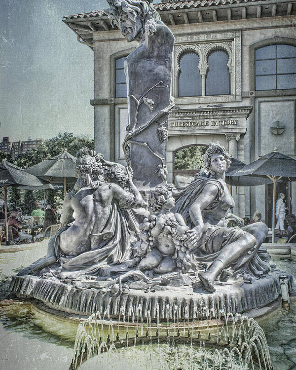 Fountain Of Bacchus Poster featuring the photograph Fountain Of Bacchus by Jeff Swanson