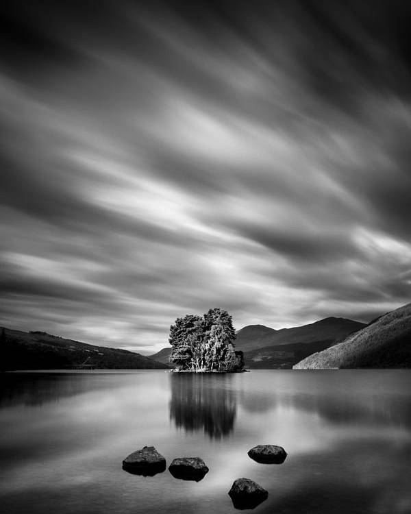 Loch Tay Poster featuring the photograph Four Rocks by Dave Bowman