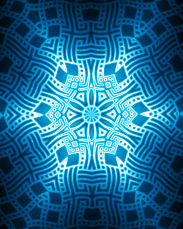 Abstract Poster featuring the digital art Fractal Snowflake Pattern 2 by Hakon Soreide