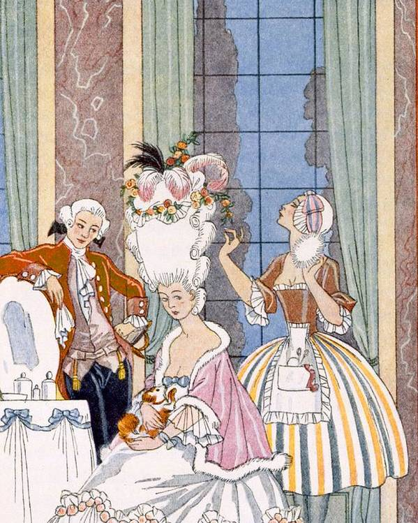 Stencil Poster featuring the painting France In The 18th Century by Georges Barbier