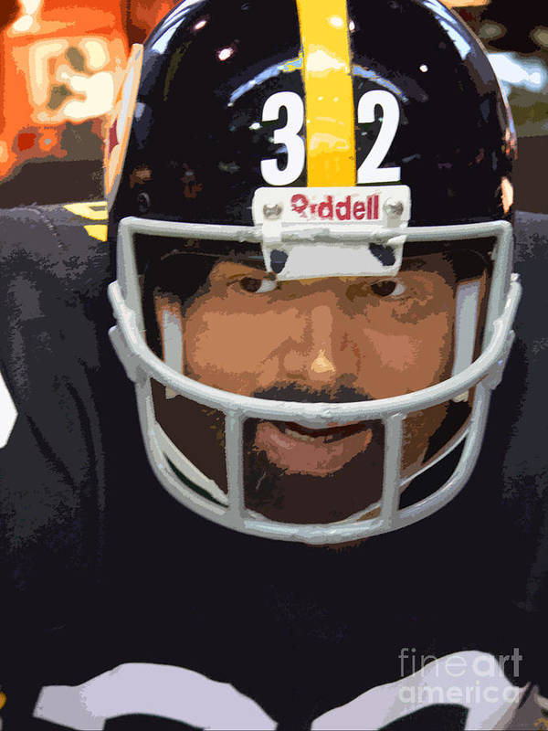 Franco Harris Poster featuring the photograph Franco by David Bearden