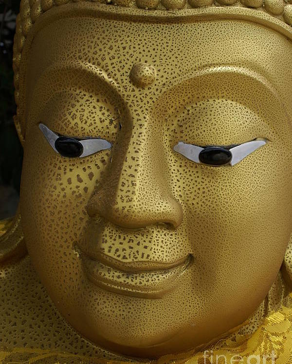 Buddhism Poster featuring the photograph Freckled Gold Buddha by Gregory Smith