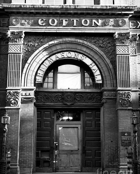 Savannah Cotton Exchange Poster featuring the photograph Free Mason's Hall by John Rizzuto