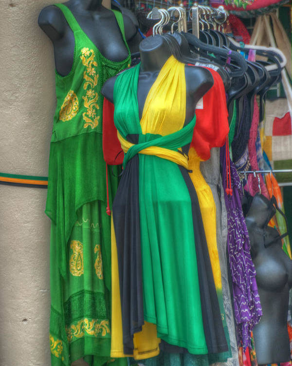 Clothing Poster featuring the photograph French Market Color by Brenda Bryant