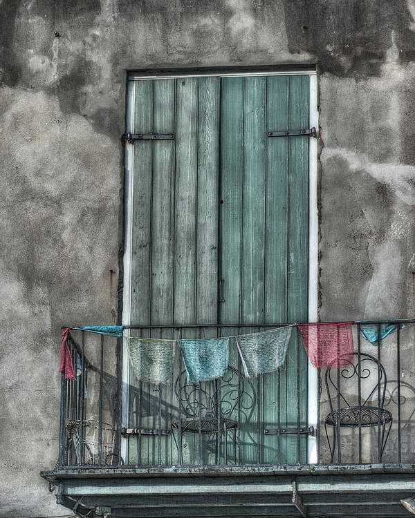 Door Poster featuring the photograph French Quarter Balcony by Brenda Bryant