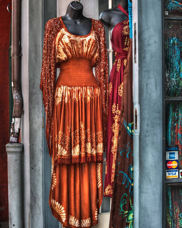 French Quarter Poster featuring the photograph French Quarter Clothing by Brenda Bryant