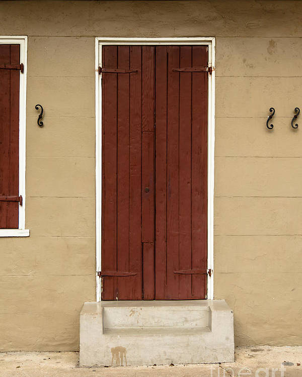 New Orleans Poster featuring the photograph French Quarter Door - 34 by Susie Hoffpauir