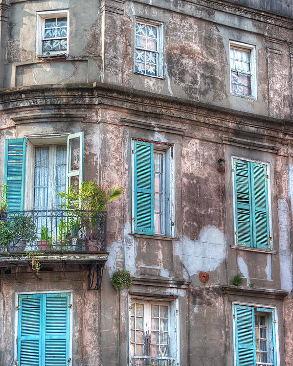 Windows Poster featuring the photograph French Quarter Landmark by Brenda Bryant