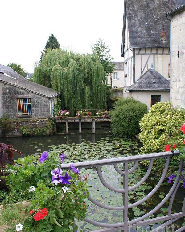 Village Poster featuring the photograph French Village by Christiane Schulze Art And Photography