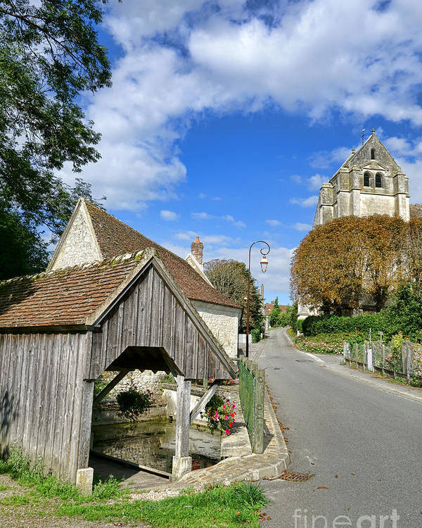 France Poster featuring the photograph French Village Road by Olivier Le Queinec
