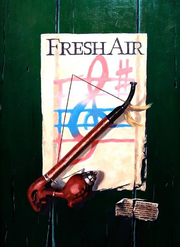 Still Life Poster featuring the painting Fresh Air by Jim Gola