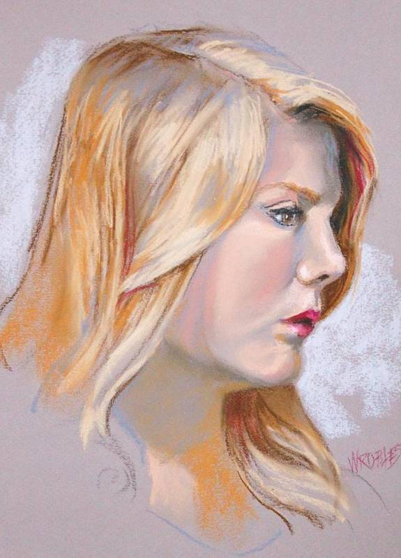 Portrait Poster featuring the painting Fresh And Lovely by Peggy Wrobleski