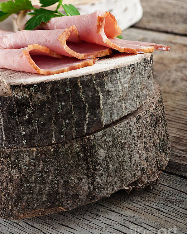Appetizer Poster featuring the photograph Fresh Ham by Mythja Photography