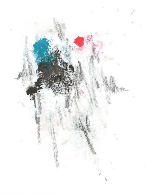 Abstract Poster featuring the mixed media Fresh Start by Matt Lambert
