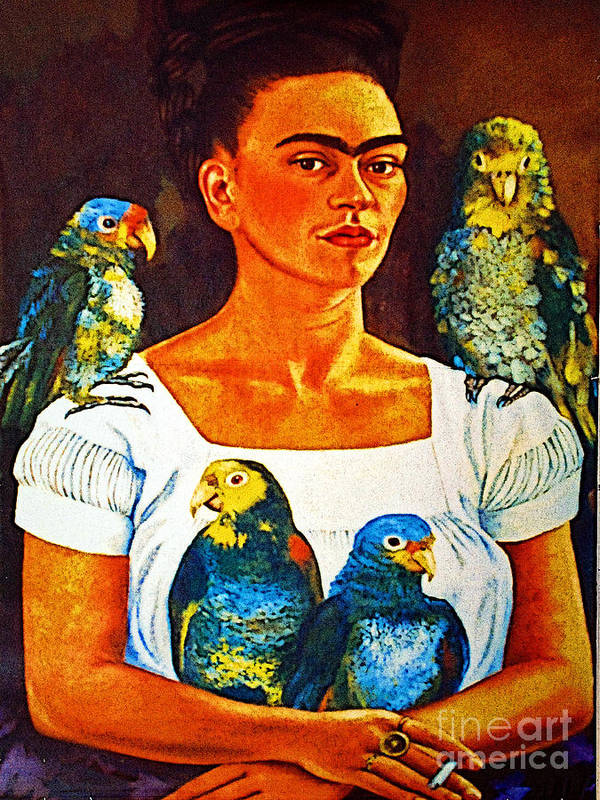 Tlaquepaque Poster featuring the photograph Frida In Tlaquepaque by Mexicolors Art Photography
