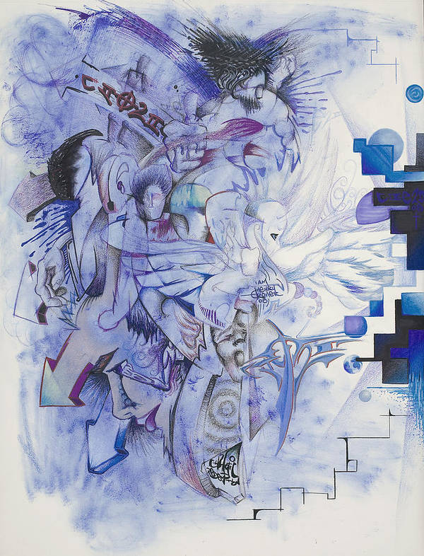 From Light To Dark To Light Poster featuring the mixed media From Light To Dark To Light by Henry Keller