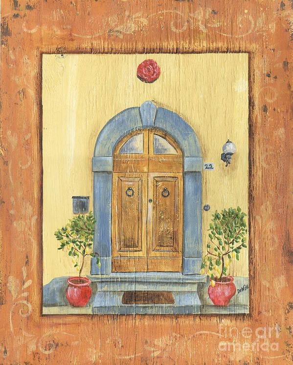 Front Door Poster featuring the painting Front Door 1 by Debbie DeWitt