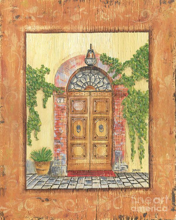 Front Door Poster featuring the painting Front Door 2 by Debbie DeWitt
