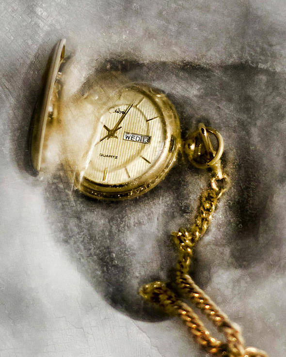 Gold Poster featuring the photograph Frozen In Time by Peter Chilelli