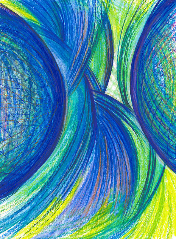 Abstract Poster featuring the drawing Fun With Ideas by Kelly K H B