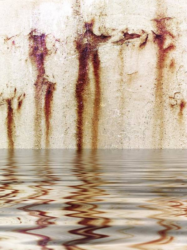 Abstract Poster featuring the digital art Funny Dance In Cold Water by Gun Legler
