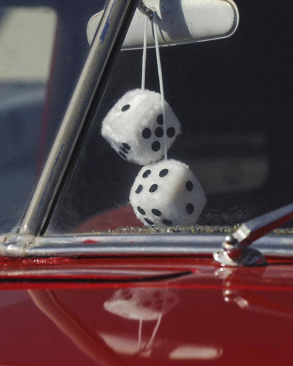 Fuzzy Dice Poster featuring the photograph Fuzzy Dice 2 by Jill Reger