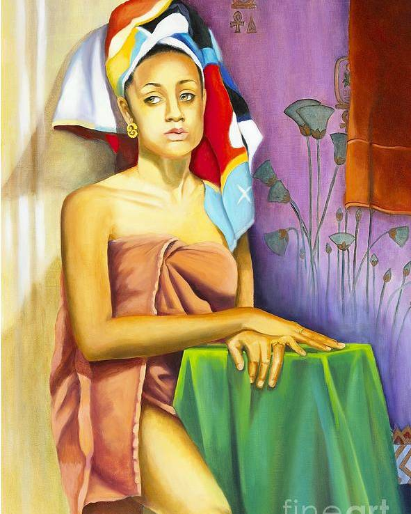 Portrait Poster featuring the painting Gaby by Marlene Book