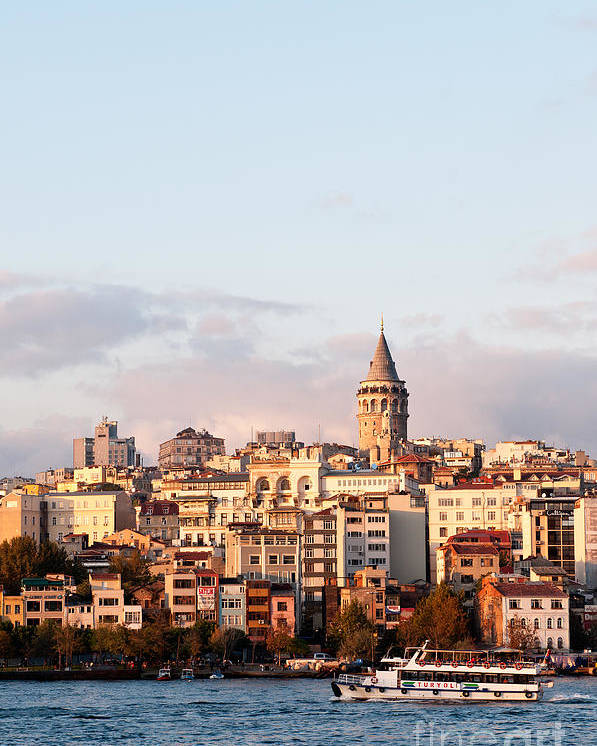 Istanbul Poster featuring the photograph Galata Skyline 02 by Rick Piper Photography