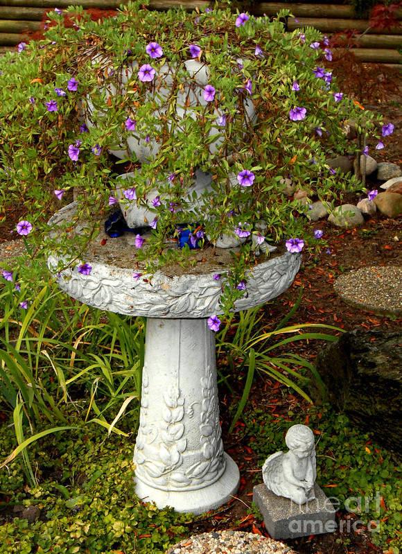 Garden Poster featuring the photograph Garden Flowering Pot by Eva Thomas