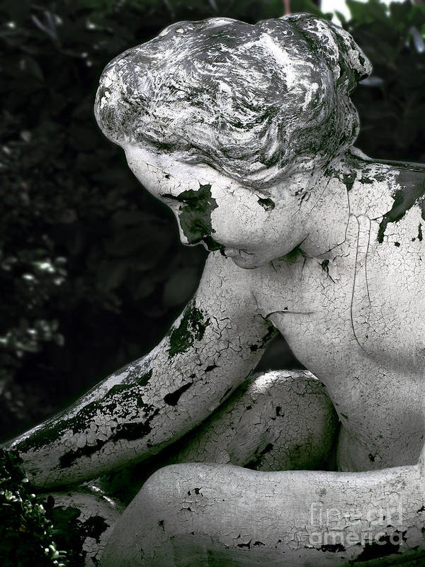 Statue Poster featuring the photograph Garden Nymph by Colleen Kammerer