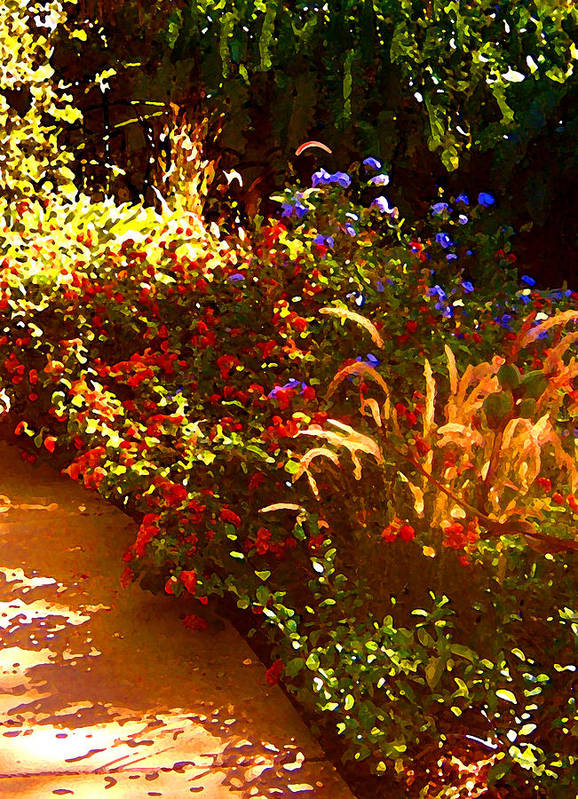 Poster featuring the painting Garden Pathway by Amy Vangsgard