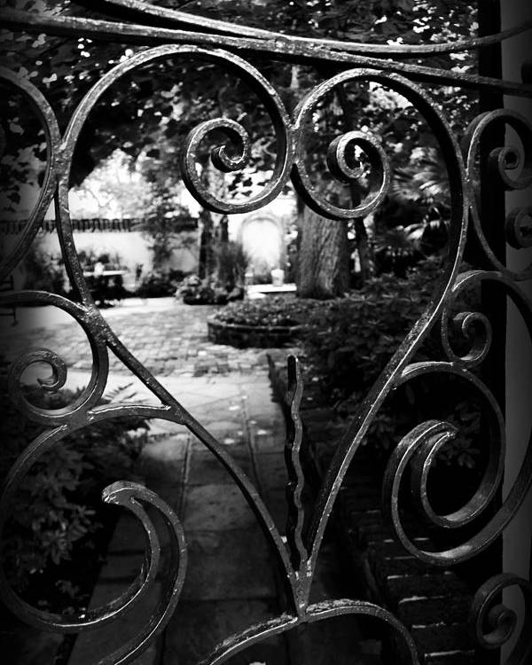 Kelly Hazel Poster featuring the photograph Gated Heart by Kelly Hazel