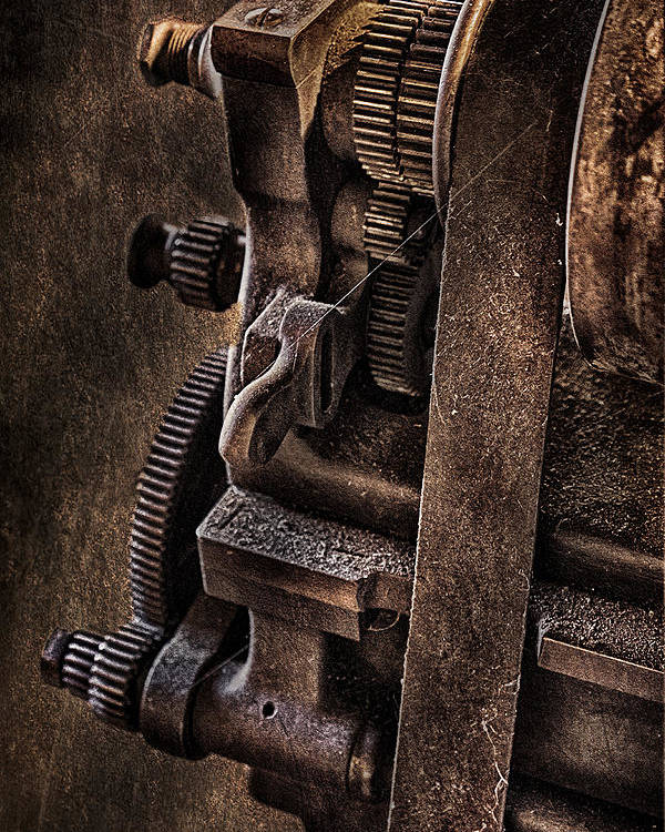 Susan Candelario Poster featuring the photograph Gears And Pulley by Susan Candelario