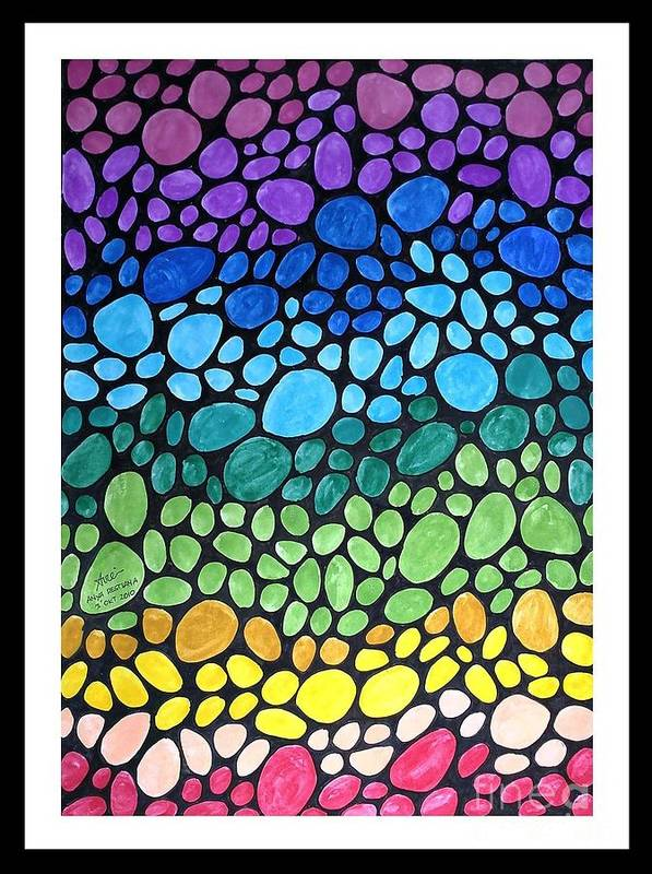 Watercolor Poster featuring the painting Gem Stones by Anya Restiana