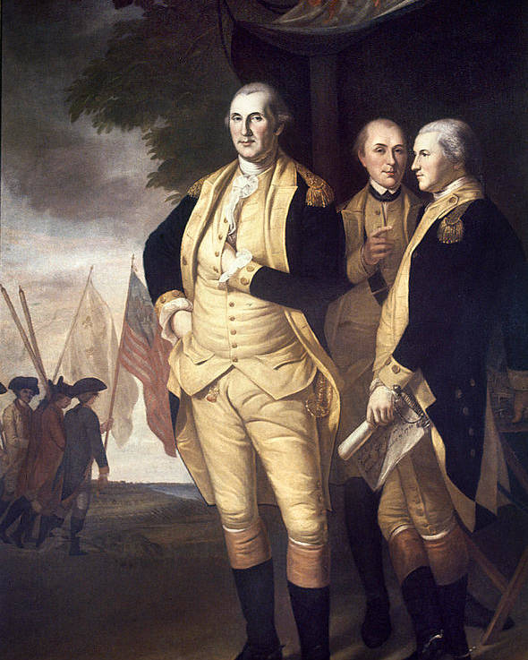 1781 Poster featuring the photograph Generals At Yorktown, 1781 by Granger