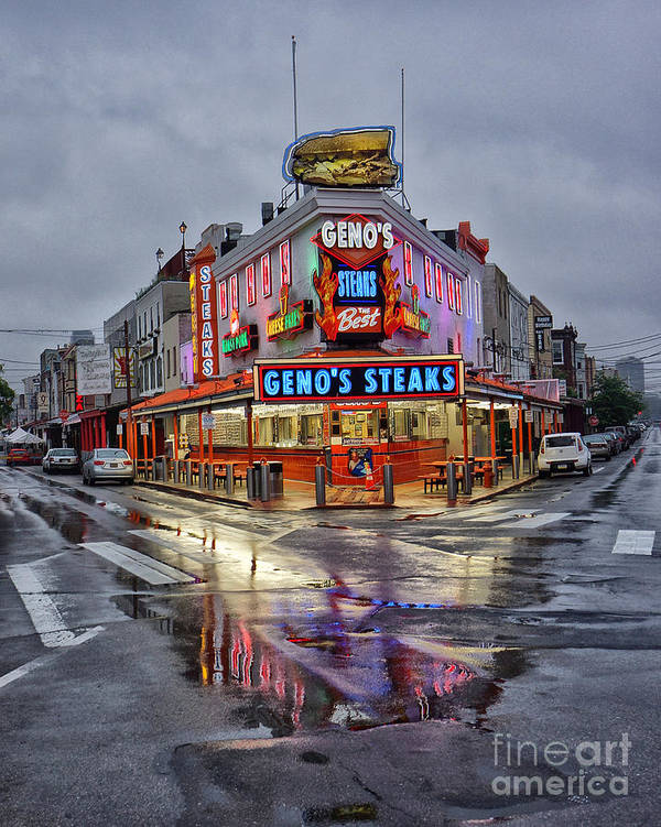 Geno's Poster featuring the photograph Geno's 7 by Jack Paolini