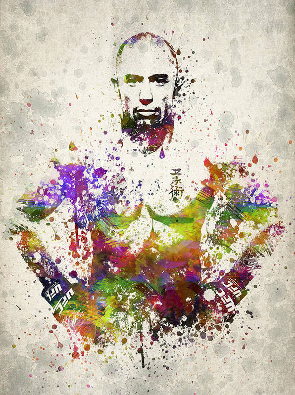 Georges St-pierre Poster featuring the drawing Georges St-pierre by Aged Pixel