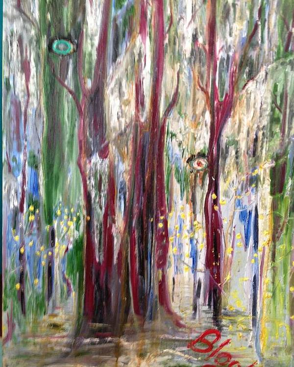 Trees Poster featuring the painting Georgia Marsh in March by Peggy Blood