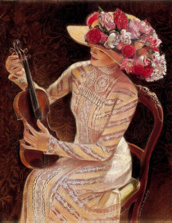 Vintage Poster featuring the painting Getting In Tune by Sue Halstenberg