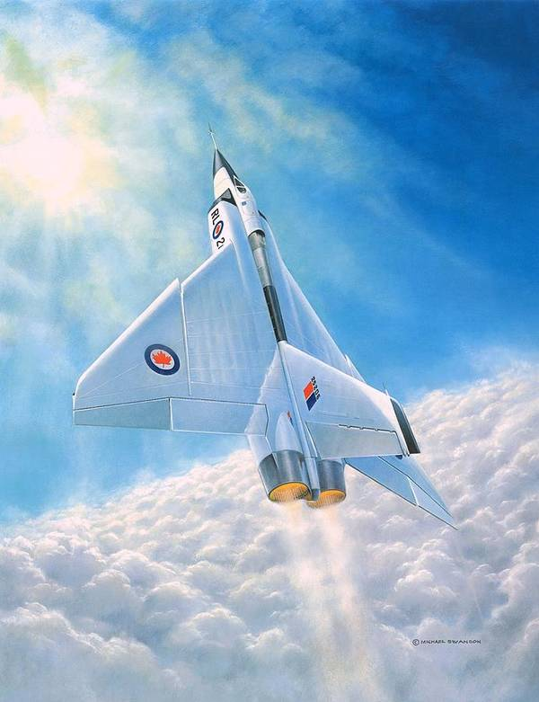 Avro Arrow Poster featuring the painting Ghost Flight Rl206 by Michael Swanson